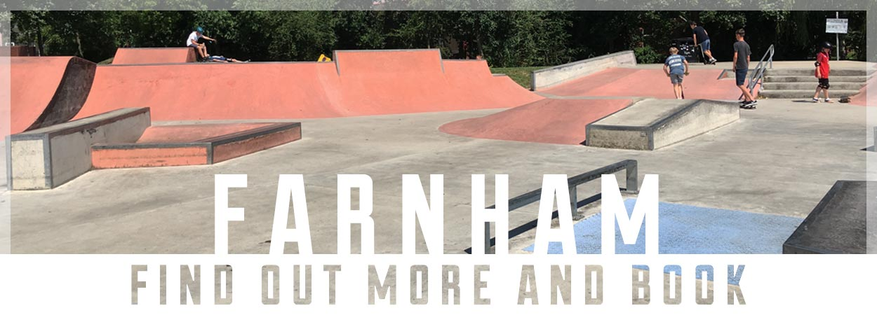 Skateboard lessons in Farnham Surrey with Trick Tech